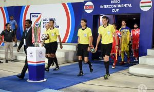 Uzbekistan's referees officiate in the Hero Intercontinental Cup Final