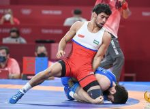 Photo Gallery. Gulomjon Abdullaev 10 seconds away from Olympic wrestling semifinals