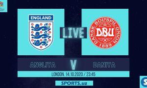 Англия - Дания: Матнли трансляция