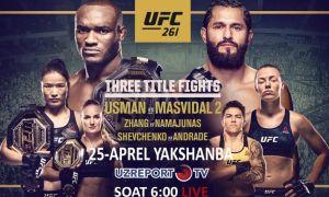 """UZREPORT телеканали """"UFC 261"""" турнирини жонли равишда эфирга узатади"""