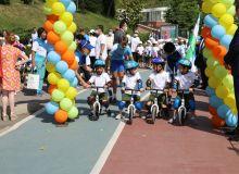 Впервые в нашей стране прошли соревнования по велогонке среди воспитанников детского сада