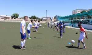 Члены молодёжной сборной Узбекистана провели мастер-класс для воспитанников футбольной академии Андижанской области