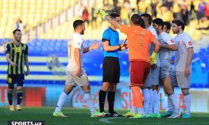 """Photo gallery from the match between """"Pakhtakor"""" - """"Kizilkum"""" which had full of controversial situations"""
