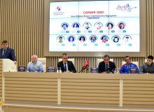 Представители сборной Узбекистана и Кубы по боксу приняли участие в пресс-конференции перед чемпионатом мира