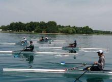 Спортсмены по академической гребле продолжают подготовку к Азиатским играм