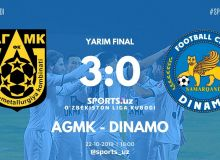 FC AGMK advance to Uzbekistan League Cup final beating FC Dinamo