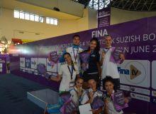 В домашнем этапе мировой серии по синхронному плаванию команда Узбекистана стала первой