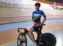 Olga Zabelinskaya earns a gold medal for Uzbekistan in the Swiss Track Cycling Challenge