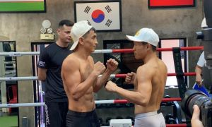 Uzbek boxers squares off against Vietnamese fighters. Weigh in!