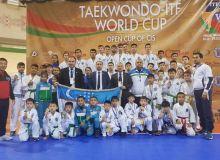 Таэквондисты Узбекистана завоевали 45 медалей кубка мира