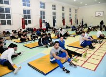 The 24 best Uzbek male boxers train in Yangiabad before their final camp in Amman