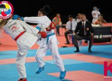Bakhrinisio Babaeva earns a silver medal in the Karate 1-Premier League Stage 5