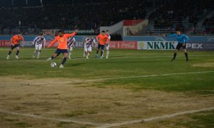 Oybek Kilichev secure a narrow 1-0 victory for FC Kizilkum