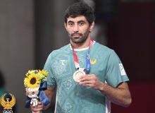 Photo gallery from the fight of Uzbek wrestler Bekzod Abdurakhmanov in the bronze medal bout