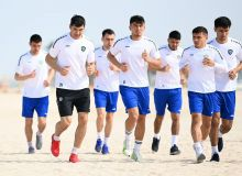 Национальная сборная Узбекистана провела тренировку в полном составе (Фото)