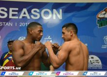 Photos from the weigh-in Uzbek Tigers vs Caciques de Venezuela