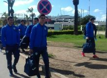 Uzbekistan natiobal team arrive in Casablanca