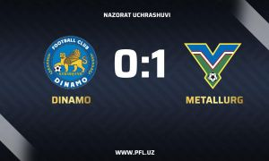 Server Djeparov makes a 1-0 win for FC Metallurg over FC Dinamo Samarkand