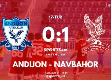 FC Andijan receive a 1-0 defeat from FC Navbahor in Fergana Valley Derby