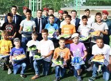 АФУ совместно с Национальной Гвардией провела футбольный праздник в детском доме