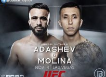 Zarrukh Adashev will have his next fight in the UFC. The opponent and date are known
