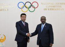 Умид Ахматджанов провел встречу с президентом Азиатской ассоциации легкой атлетики