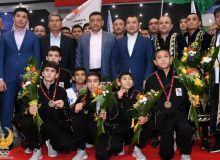 Прошла торжественная встреча юных боксёров