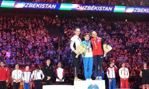 Uzbekistan's Oksana Chusovitina wins vault at Paris Challenge Cup