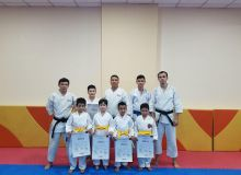 Young karatekas passed the exam for the yellow belt