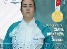 Сафия Бурханова – Токио-2020 ёзги Паралимпия ўйинлари чемпиони!