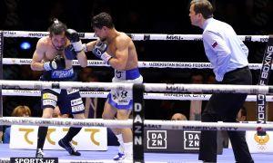 Фотогалерея боя, в котором Муроджон Ахмадалиев нокаутировал своего японского соперника