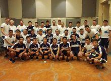 Узбекские звёзды бокса по инициативе Умида Ахматджанова встретились с нашими футболистами в Джакарте