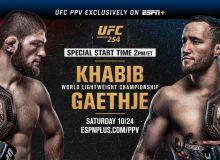 """UFC254"": Хабиб - Гетжи жангига тайёрмисиз? Навбат кутилган беллашувга (матнли трансляция ва видеолар)"