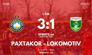 FC Pakhtakor start their Super League campaign with a 3-1 win over FC Lokomotiv