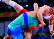 Двое борцов Узбекистана в четвертьфинале