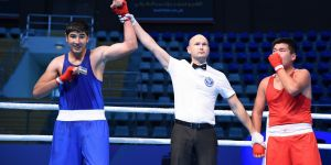 Two of the Uzbek boxers are medallists after the first part of the quarter-finals at the AIBA Youth World Boxing Championships