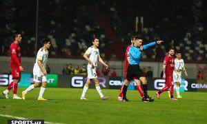 Фотообзор насыщенного на события матча в Намангане