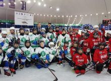 Uzbekistan's Binokor U-10 advance to the final in International Junior Ice Hockey Tournament in Kyrgyzstan.