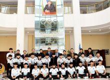 Умид Ахматджанов провел встречу с представителями делегации под руководством Пан Ги Муна, которые участвуют в международном форум