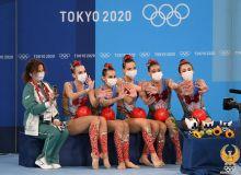 Представительницы сборной Узбекистана по художественной гимнастике выступили в групповой программе