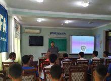 В региональной детско-юношеской академии Андижанской области прошёл открытый урок на тему «English for football»