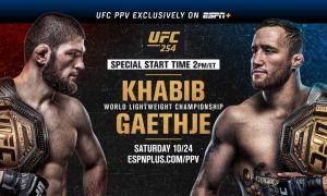 """""""UFC254"""": Уиттакер - Канноньер жангига навбат етиб келди, шундан сўнг, Хабиб - Гетжи баҳси старт олади (матнли трансляция ва видеолар)"""