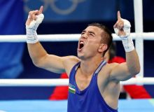Hasanboy Dusmatov makes his debut with a KO win over Mexico's Jesus Cervantes