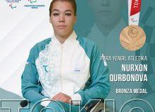 Ещё одну медаль для делегации Узбекистана на Паралимпиаде в Токио завоевала Нурхон Курбанова