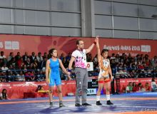 Shokhida Akhmedova awarded a silver medal in 2018 Youth Olympic Games women's freestyle