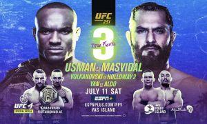 """""""UFC 251"""": Барча жанглар натижалари ва энг эътиборли вазиятлар видеоси (Матнли трансляция)"""