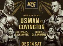 Эртага, UFC 245 турнирида кимлар жанг қилади?