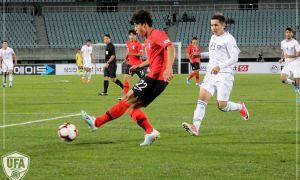 Олимпийская сборная Узбекистана одержала победу во втором товарищеском матче против Южной Кореи