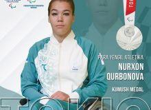 Нурхон Курбанова завоевала вторую медаль Паралимпиады Токио-2020