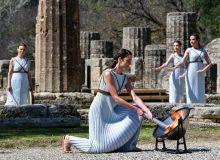В Греции прошла церемония зажжения Олимпийского огня зимних игр в Пекине
